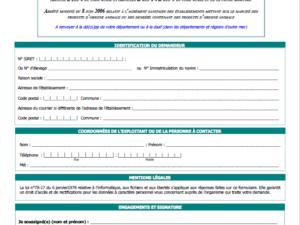 A2. Demande d'agrément sanitaire CERFA N°13983-03