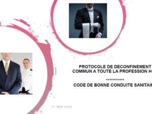 COVID19 Protocole déconfinement HCR (hôtels, cafés, restaurants)